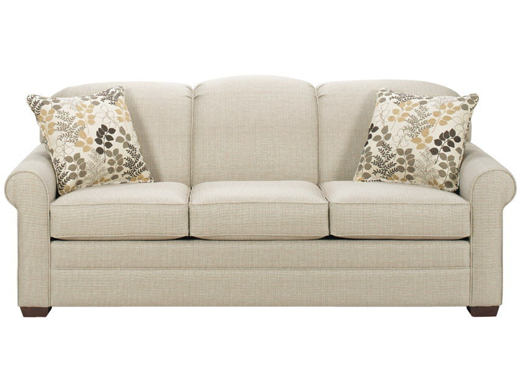 Craftmaster living room three cushion sofa 718550 for Wholesale furniture