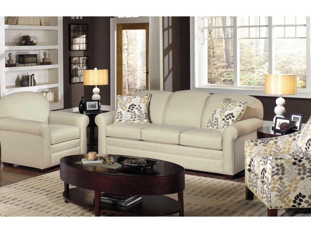 Craftmaster Living Room Three Cushion Sofa 718550 Wholesale Furniture Cookeville Tn