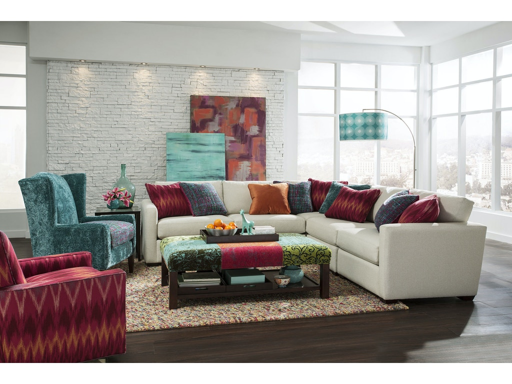 Craftmaster Living Room Sectional 7511 Sect Craftmaster
