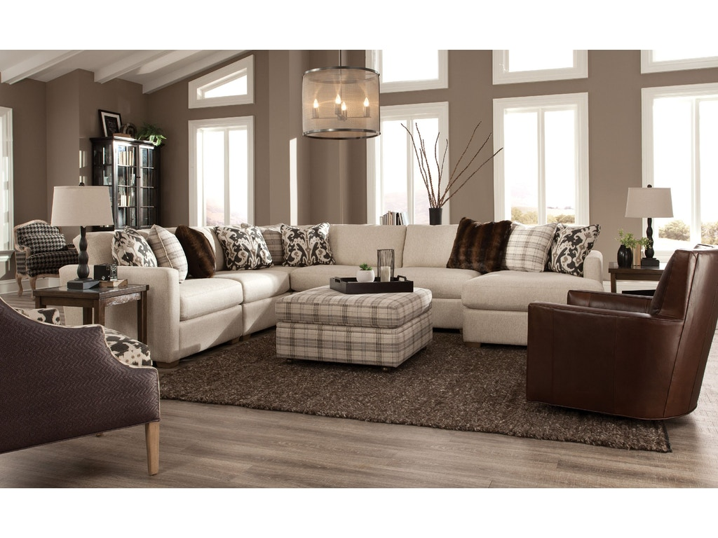 Craftmaster Living Room Sectional 7511 Sect Shumake