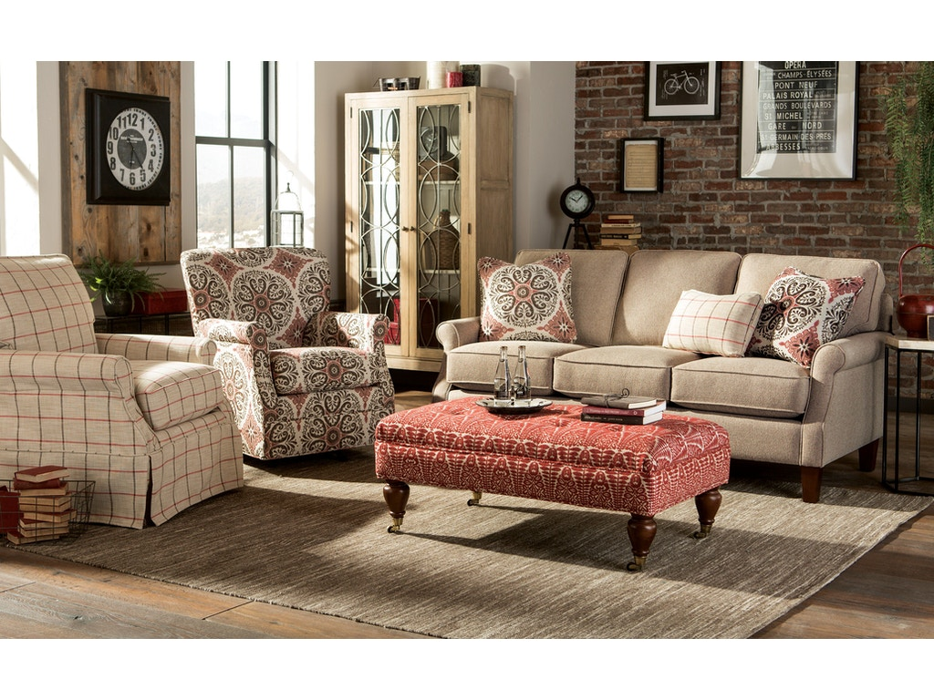 Craftmaster living room sofa 771950 kettle river for Living room quilt
