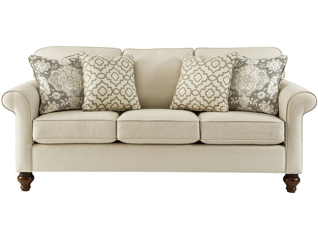 Craftmaster living room queen sleeper sofa tyndall for Semi classic sofa