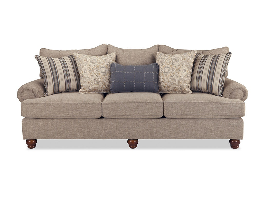 Craftmaster living room three cushion sofa 797050pc wholesale furniture cookeville tn Badcock home furniture more cookeville tn