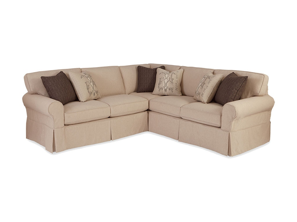 Superbe Craftmaster Sectional 9228 Sect Sleeper