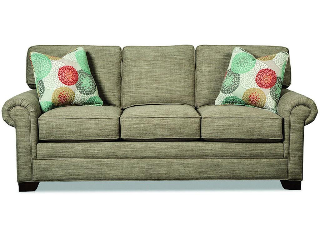 Craftmaster Living Room Three Cushion Queen Sleeper Sofa