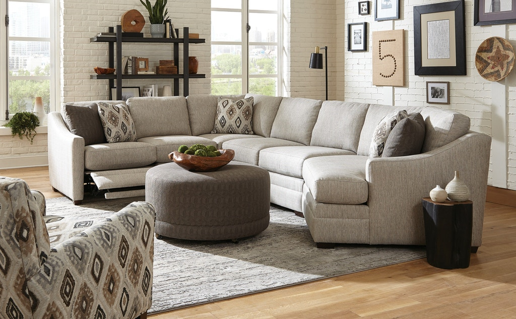 Craftmaster Living Room Sectional F9332 Sect Kettle