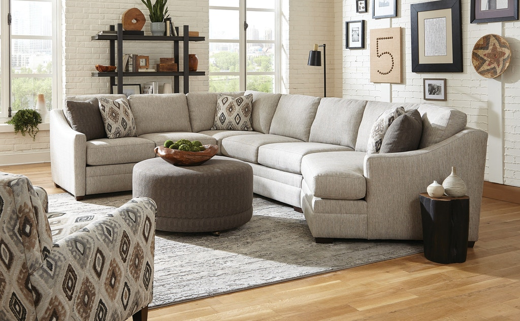 Hickorycraft Living Room Sectional F9332-Sect - Hickorycraft ...