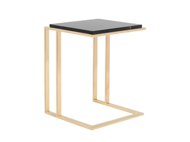 Curations Limited Deco Small Side Table 1001.1017.Black