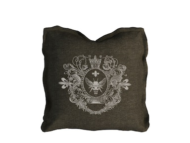 Curations Limited Logo Pillow Beige Linen 1200.0001