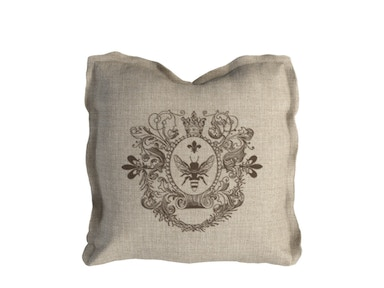 Curations Limited Logo Pillow Brown Linen 1200.0002