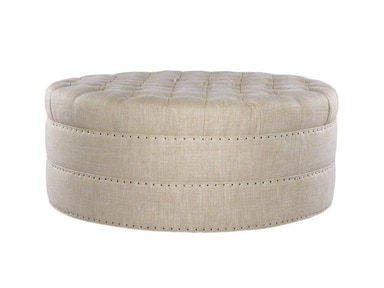 Curations Limited Grand Round Tufted Ottoman 7801.1107