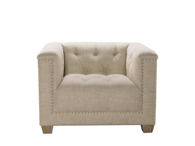 Curations Limited Bergamo Linen Arm Chair 7841.0035.A015