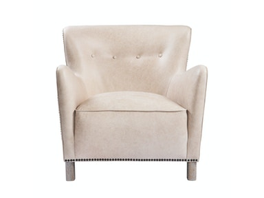 Curations Limited Savona Leather Arm Chair 7841.0048.GNL