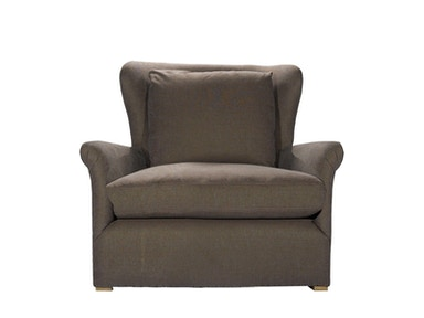 Curations Limited Winslow Lounge Chair Brown Linen 7841.1003.A008