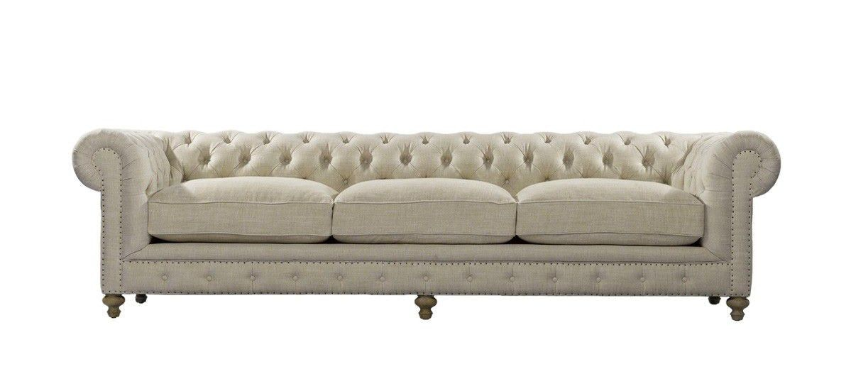 Curations Limited 118 Inches Cigar Club Sofa 7842.0004.A015 From Walter E.  Smithe Furniture