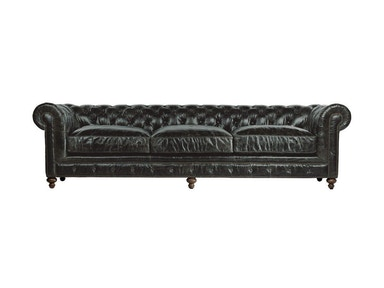 Curations Limited 118 Inches Cigar Club Leather Sofa 7842.3008.2
