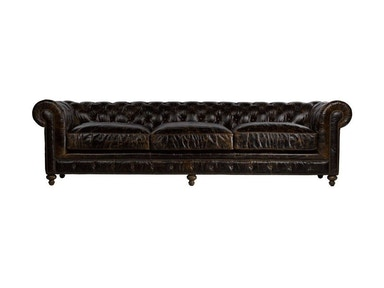 Curations Limited 118 Inches Cigar Club Leather Sofa 7842.3008.1