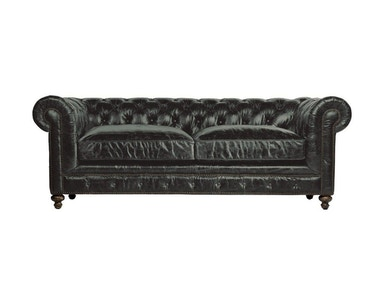Curations Limited 90 Inches Cigar Club Leather Sofa 7842.3009.2