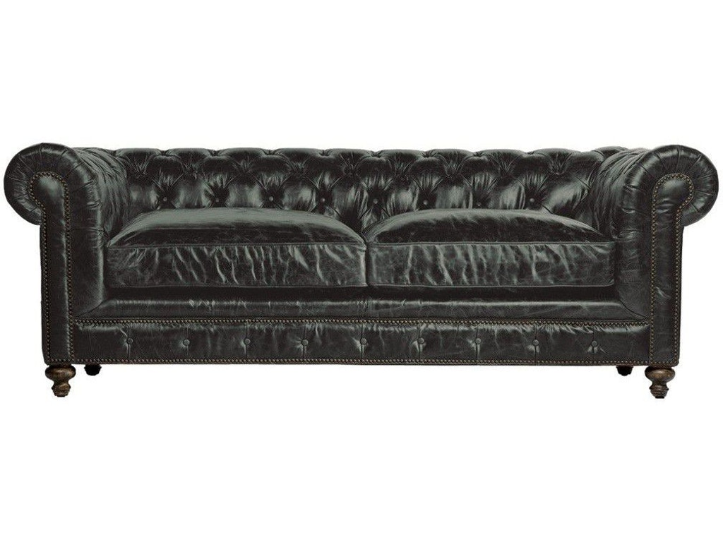 Living room 90 inches cigar club leather sofa for 90 inch couch
