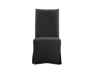 Curations Limited Flandia Black Slip Covered Chair 8826.1102