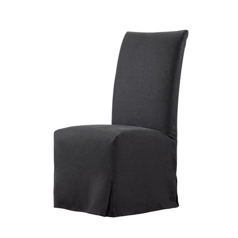 Curations Limited Flandia Black Slip Covered Chair 8826.1102 From Walter E.  Smithe Furniture + Design