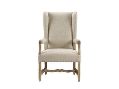 Curations Limited Belgium Wing Linen Arm Chair 8826.1100.A015
