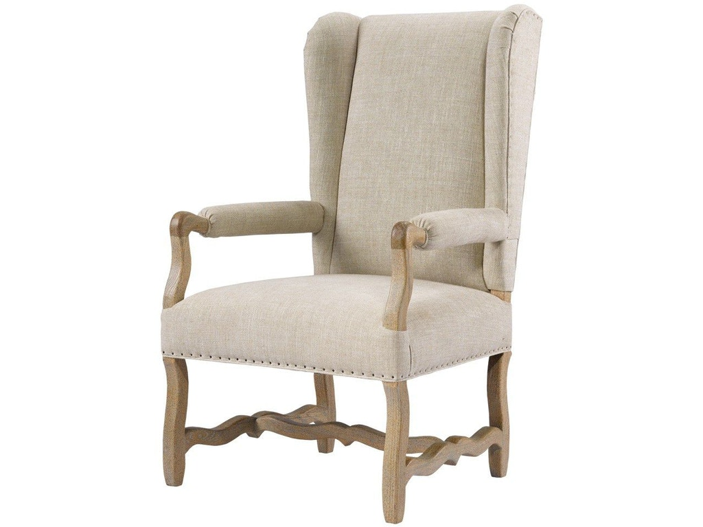 Belgium wing linen arm chair for W furniture rental brussels