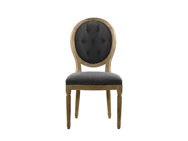 Curations Limited Vintage Wool Louis Round Button Side Chair 8827.0002.W006