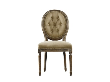 Curations Limited French Vintage Louis Round Button Side Chair 8827.0002.H009