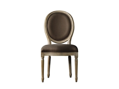 Curations Limited French Vintage Louis Round Side Chair 8827.0003.A008