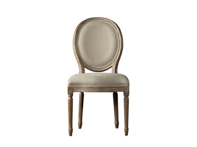 Curations Limited French Vintage Louis Round Side Chair 8827.0003.A015