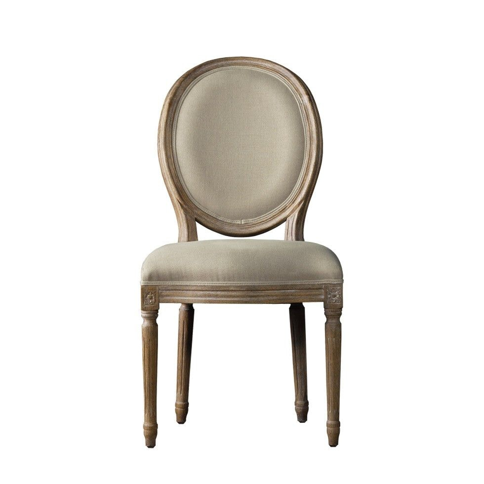 Curations Limited French Vintage Louis Round Side Chair 8827.0003.A015 From  Walter E. Smithe