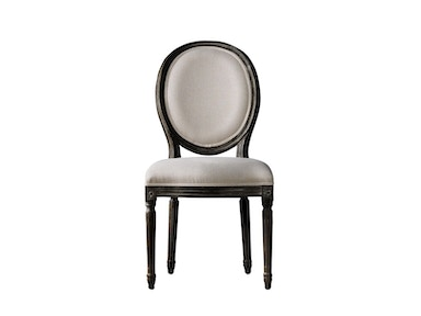 Curations Limited Vintage Louis Antique Black Side Chair 8827.0004