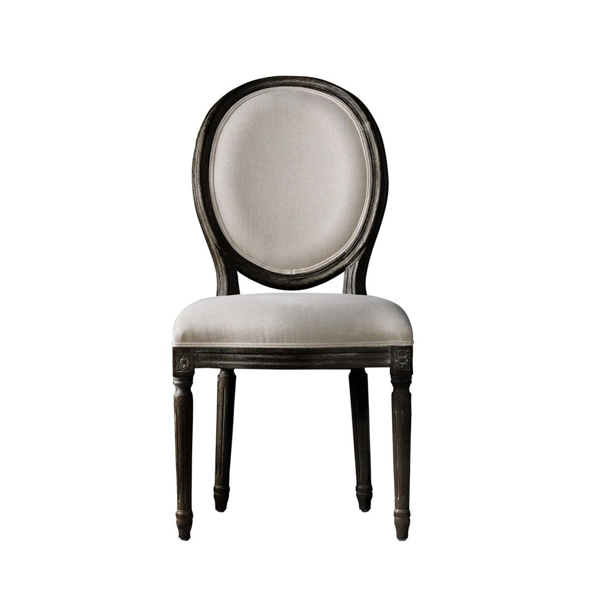 Attirant Curations Limited Vintage Louis Antique Black Side Chair 8827.0004