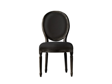 Curations Limited Vintage Louis Antique Black Side Chair 8827.0005