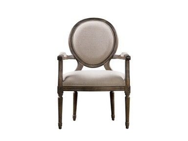 Curations Limited Vintage Louis Round Arm Chair 8827.0008.A015