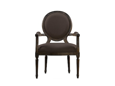Curations Limited French Vintage Louis Round Arm Chair 8827.0008.A008