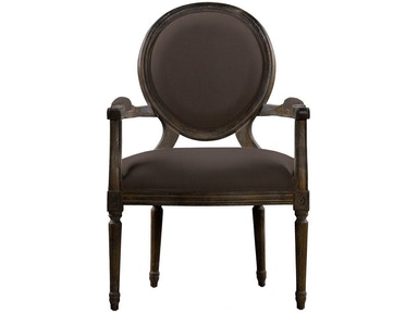 Curations Limited Dining Room Vintage Louis Antique Black Side Chair