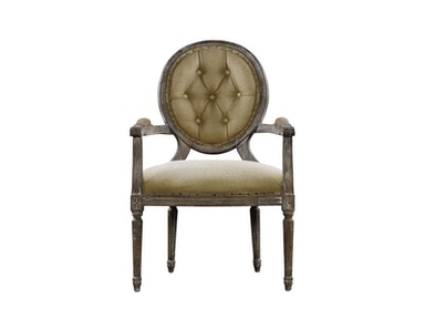 Curations Limited Vintage Louis Round Button Arm Chair 8827.0009.H009