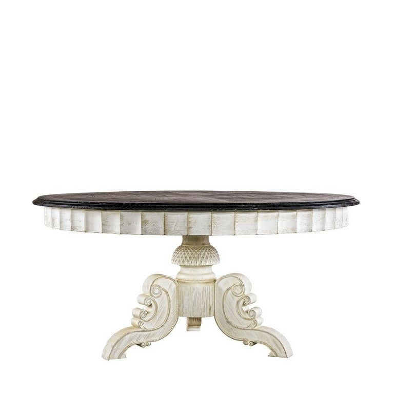Charmant Curations Limited French Vintage Black U0026 White Round Table 8831.1201.L From  Walter E.