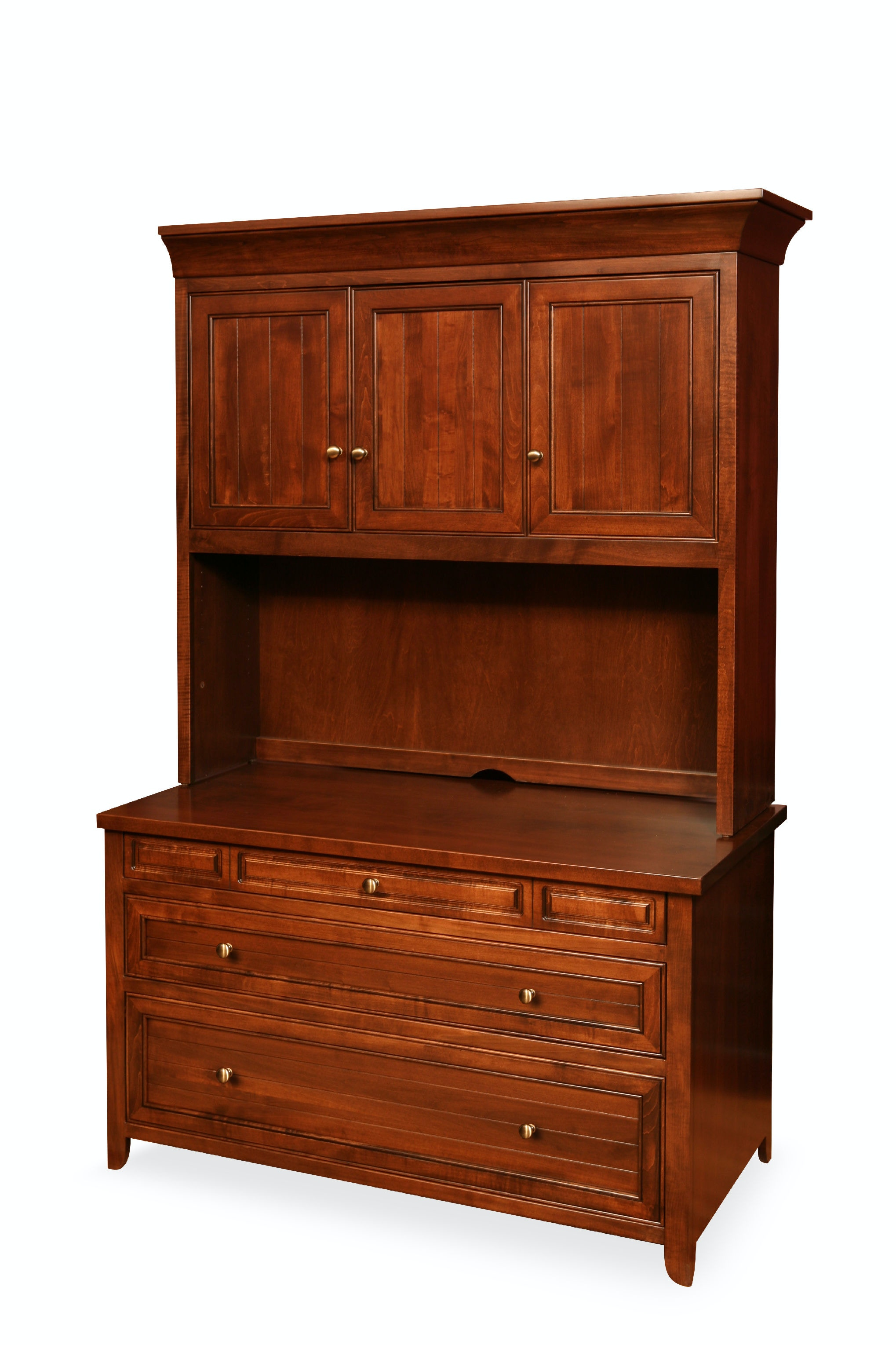 30 36. Drawer Cabinet With Hutch Top