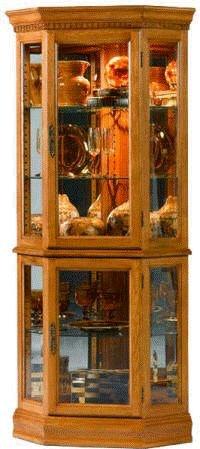 Jasper Cabinet Lorraine Cherry Corner Curio Cabinet P601 01