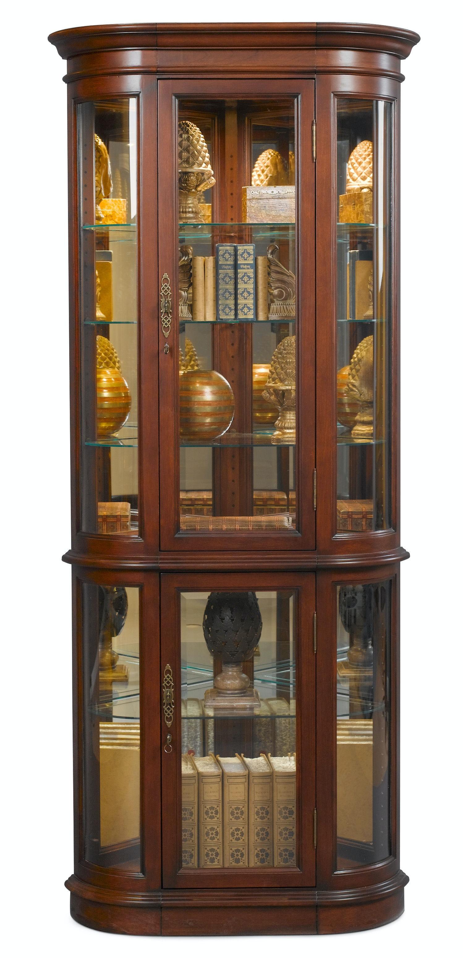 Jasper Cabinet Hamilton Corner Curio P608 03