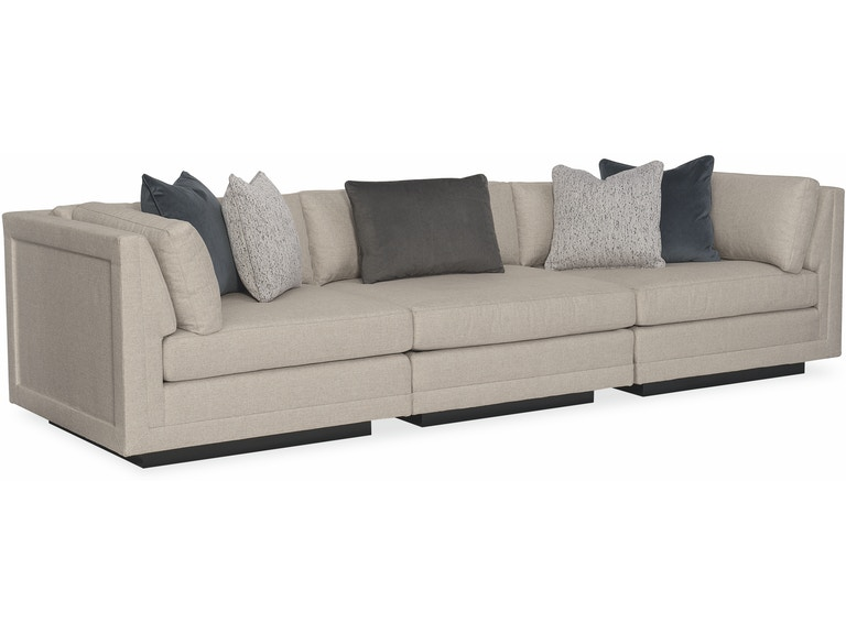 Caracole Modern Living Room Fusion 3 Piece Sectional Sofa M050 017 Sec4 A Georgian Furnishing And Bergerhome New Orleanandeville La