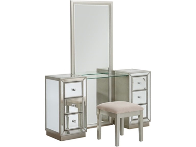 Accents by Andy Stein Bedroom Vanity Mirror and Stool 13718 ...