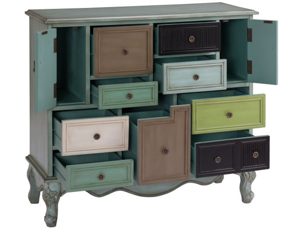 Coast To Coast Accents Living Room 9 Drawer 2 Door Cabinet