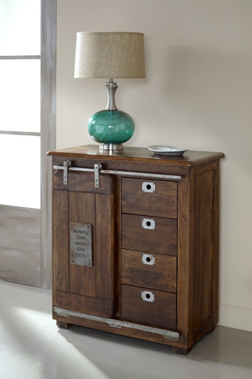 Jadu Accents Living Room 4 Drawer 1 Door Cabinet 68220
