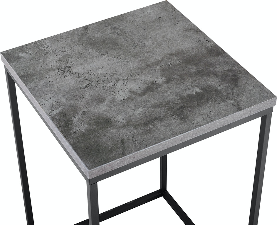 Modern Bohemian Urban Industrial Open Box Side Table Dark - Industrial concrete side table