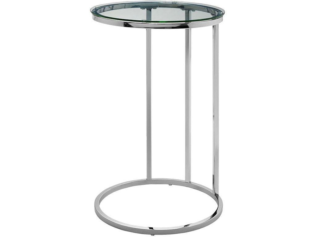 Ft Myers Bedroom 16 Modern Round C Side End Table Nightstand Clear Gl Top Chrome Base Wedaf16rcstgl Walter E Smithe Furniture Design