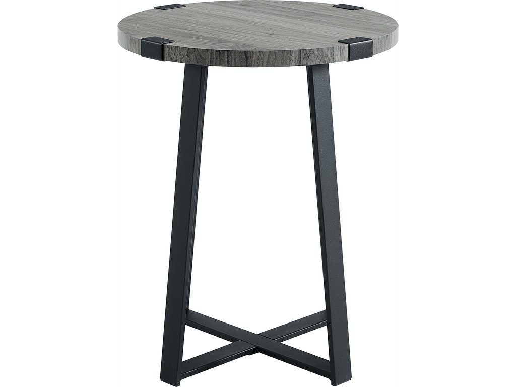 Ft Myers Living Room Rustic Side Table AF18MWSTSG Walter E. Smithe  Furniture + Design
